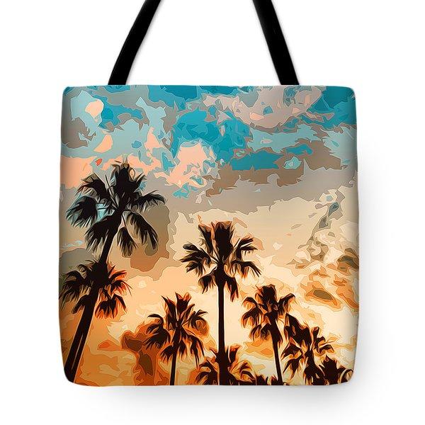 Malibu Beach - Heaven's Sky Tote Bag