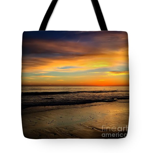 Malibu Beach Sunset Tote Bag
