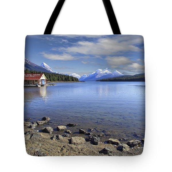 Maligne Lake -- Jasper Alberta Canada Tote Bag by Daniel Hagerman