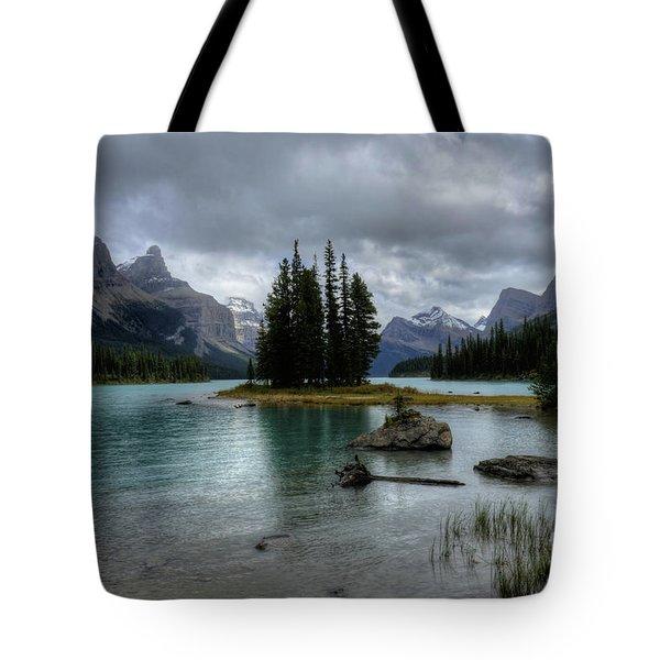 Maligne Lake Spirit Island Jasper National Park Alberta Canada Tote Bag