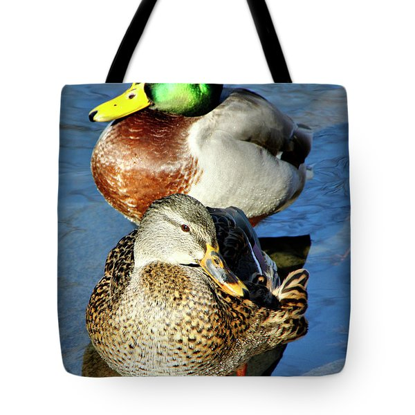 Mallard Couple Tote Bag