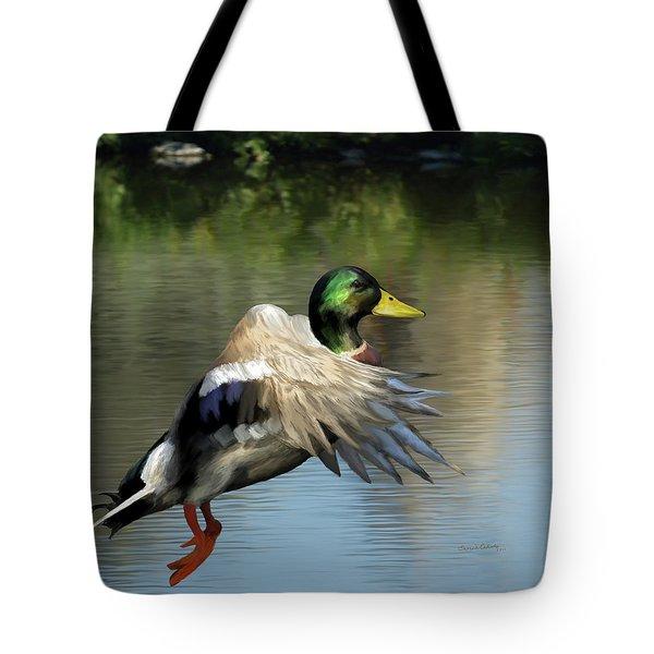 Mallard Digital Freehand Painting 2 Tote Bag by Ernie Echols