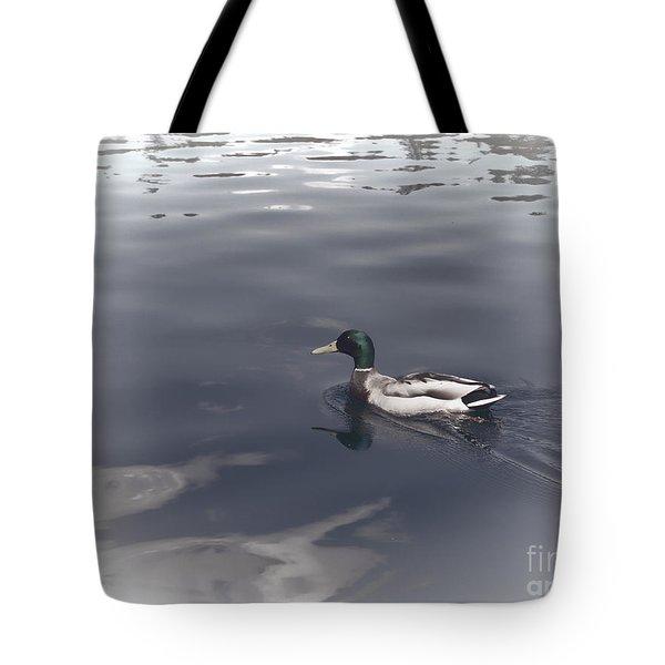 Mallard Drake Tote Bag by Erica Hanel