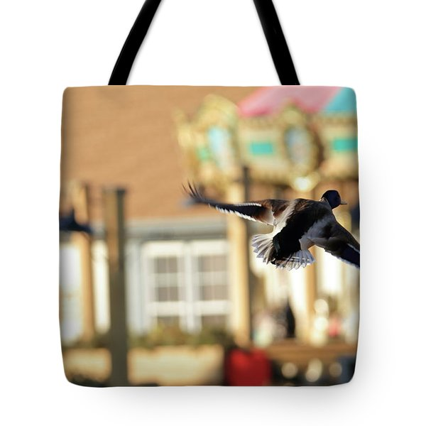 Mallard Duck And Carousel Tote Bag by Geraldine Scull