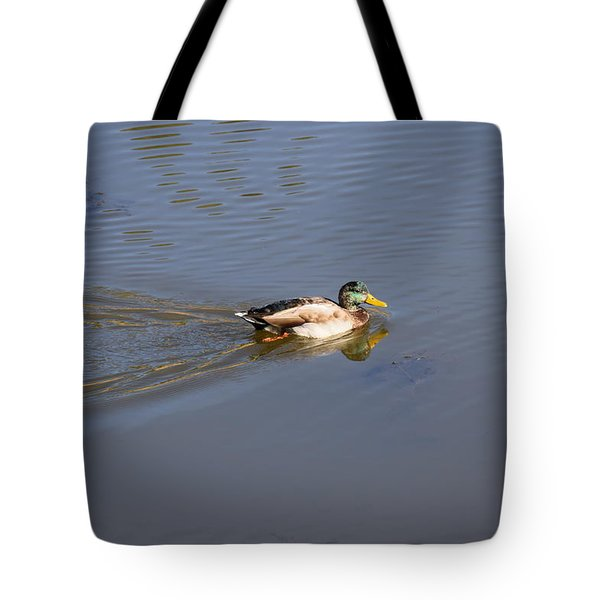 Tote Bag featuring the photograph Mallard Duck Burgess Res Co by Margarethe Binkley