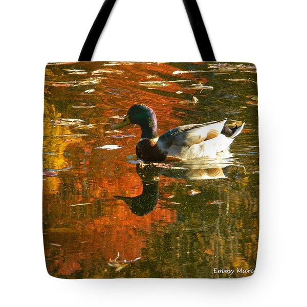 Mallard Duck In The Fall Tote Bag