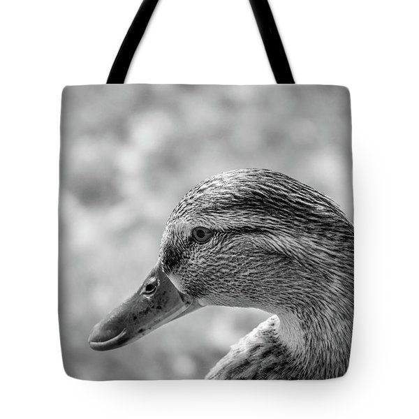 Mallard In Monochrome Tote Bag