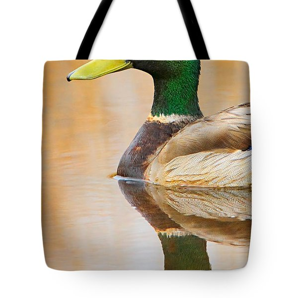 Mallard Mirror Tote Bag