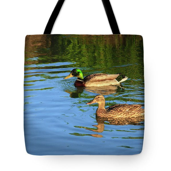 Mallard Pair Tote Bag by Robert Bales