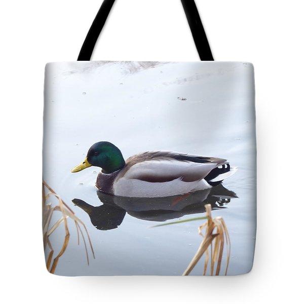 Mallard Reflected Tote Bag