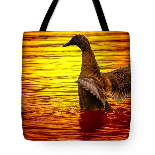 Mallard Sunset Tote Bag