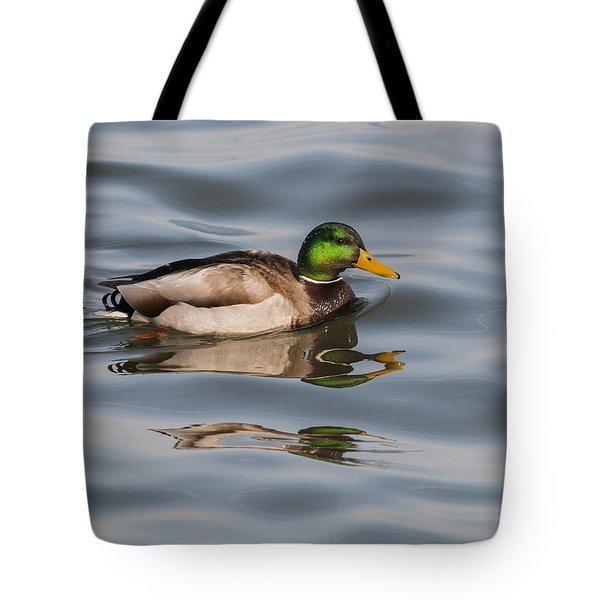 Mallards And Reflection Tote Bag