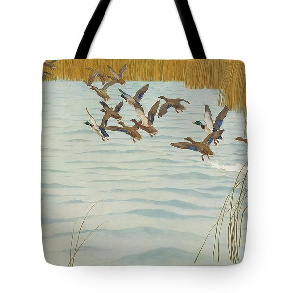 Mallards In Autumn Tote Bag