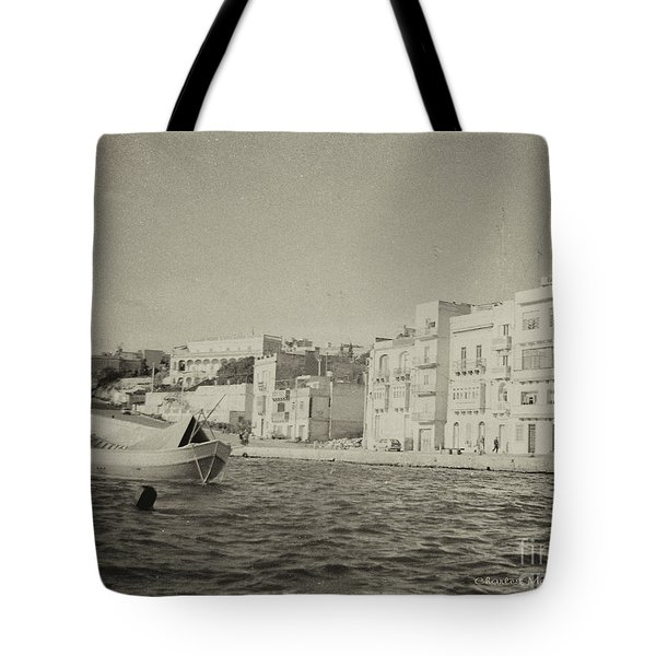 Tote Bag featuring the photograph Maltese Boat by Charles McKelroy
