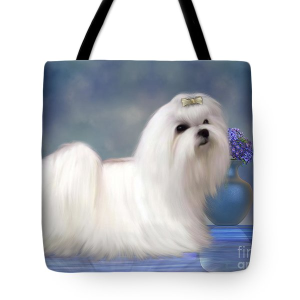 Maltese Dog Tote Bag by Corey Ford