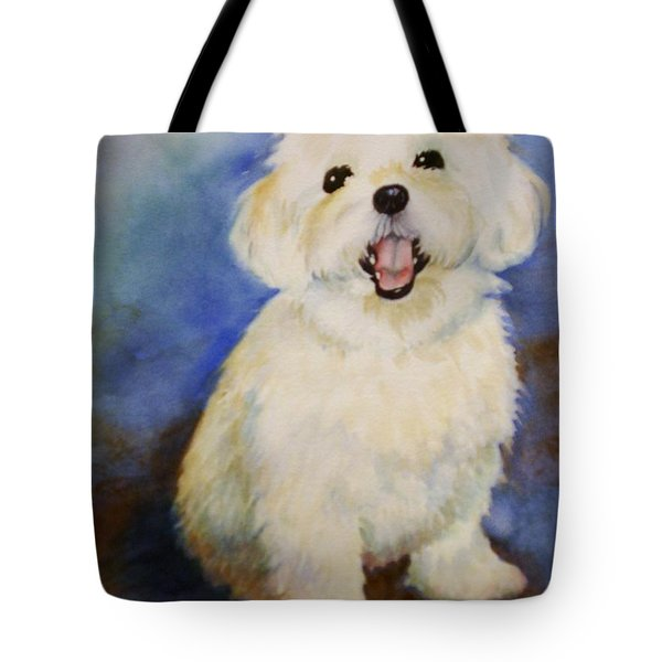 Maltese Named Ben Tote Bag by Marilyn Jacobson