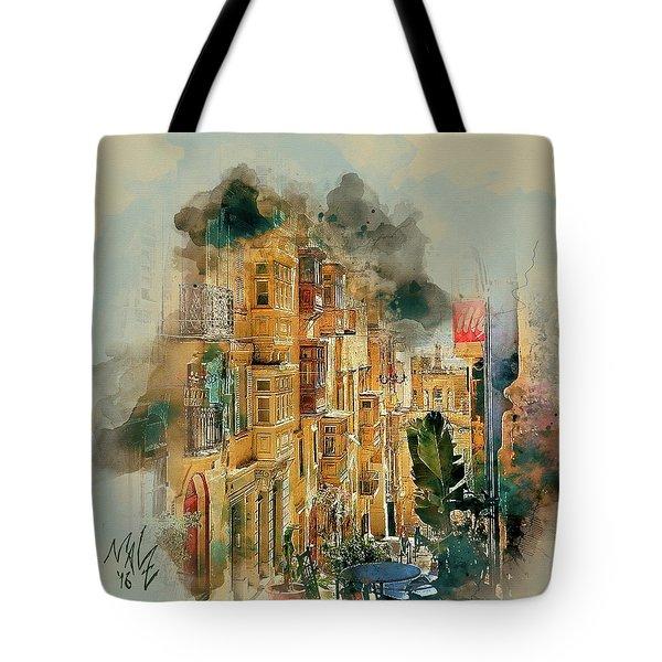 Maltese Street Tote Bag