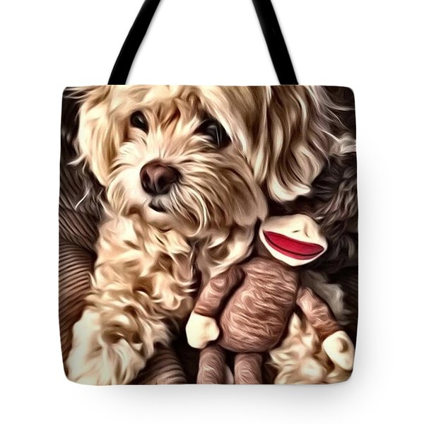Maltipoo Love Tote Bag