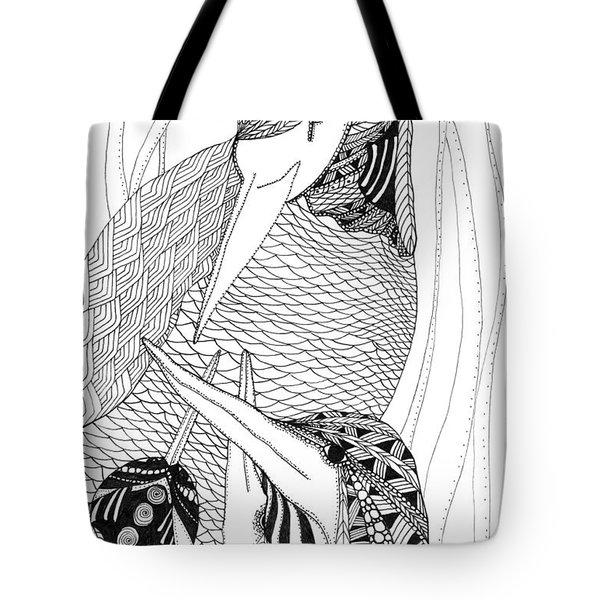 Mama Heron Tote Bag