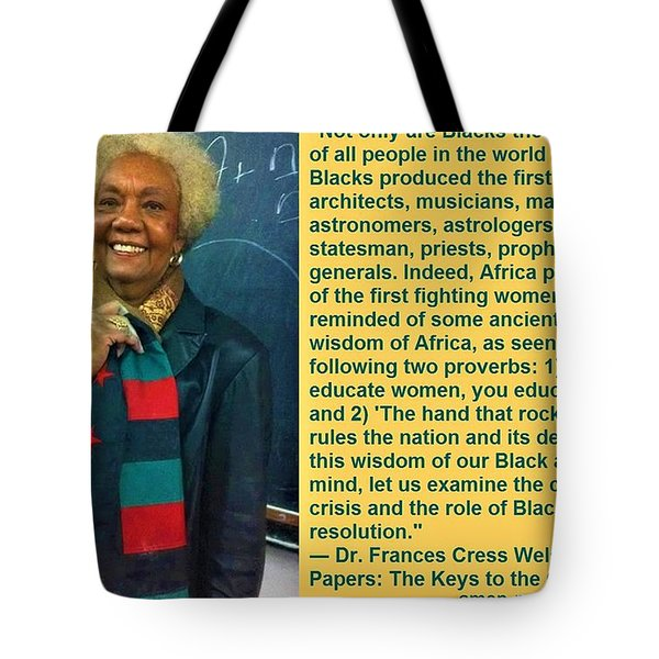 Mama Frances Cress Welsing Tote Bag