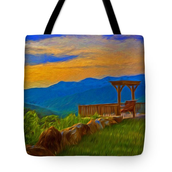 Blue Ridge Sunset From Mama Gertie's Hideaway Tote Bag