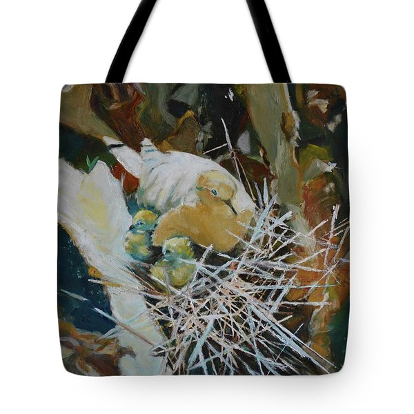 Mama And Babies Tote Bag