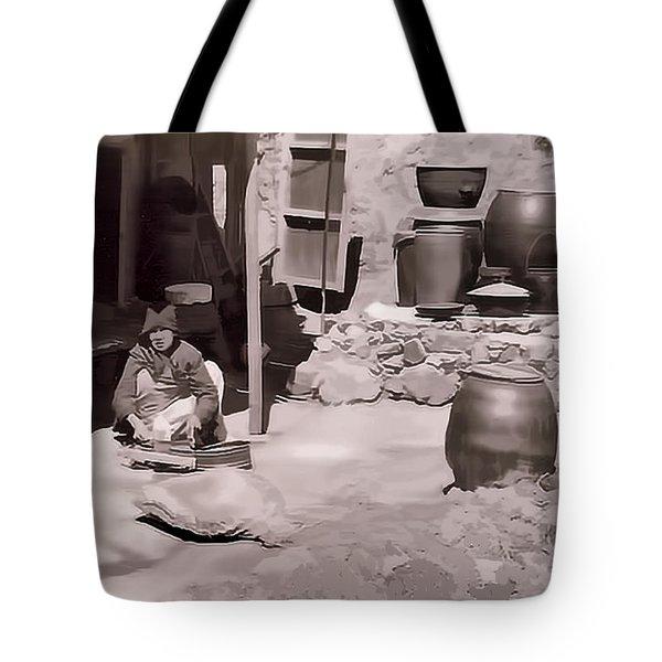 Mamasan Tote Bag by Dale Stillman