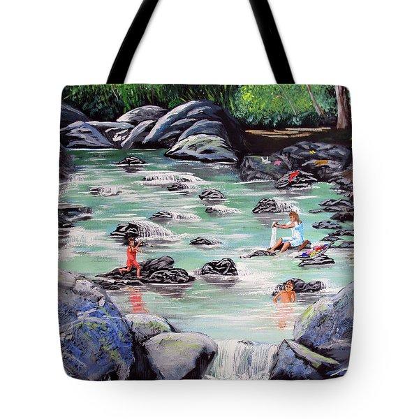 Mami Lavando Ropa Tote Bag by Luis F Rodriguez