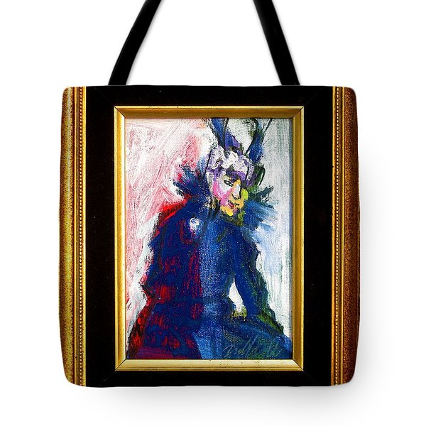 Tote Bag featuring the painting Mamie by Les Leffingwell