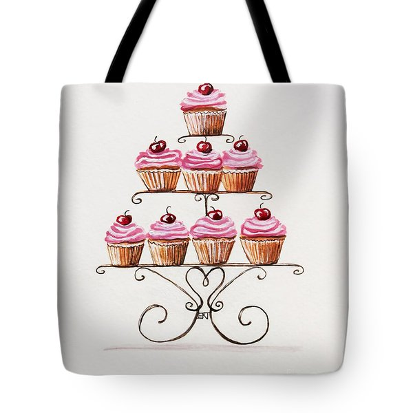 Mamie's Cupcakes Tote Bag by Elizabeth Robinette Tyndall