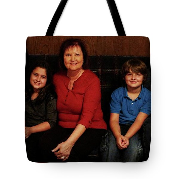 Tote Bag featuring the photograph Mamma And Kids by Gene Gregory