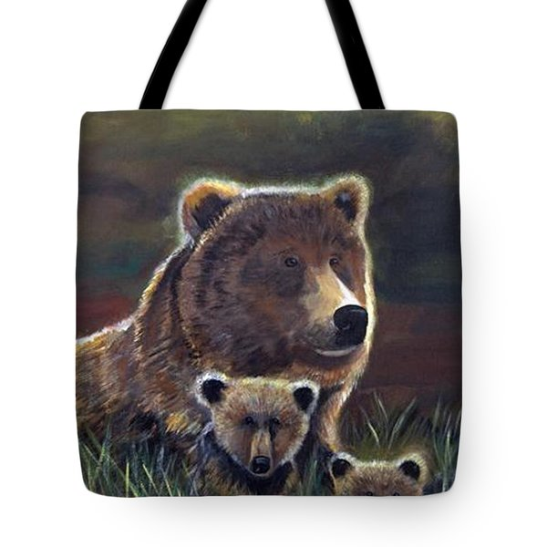 Tote Bag featuring the painting Mammas Warmth by Leslie Allen