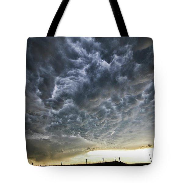 Mammatus Over Nebraska Tote Bag