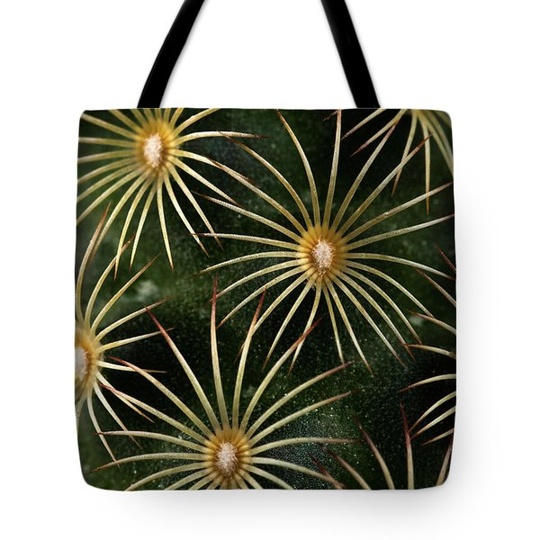 Tote Bag featuring the photograph mammillaria elongata Cactus  by Catherine Lau