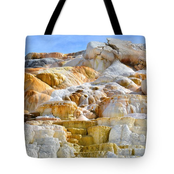 Mammoth Hot Springs Tote Bag by Ray Mathis