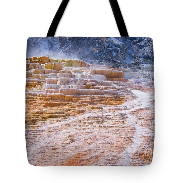 Mammoth Terraces Of Yellowstone Tote Bag