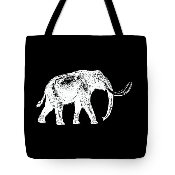 Mammoth White Ink Tee Tote Bag by Edward Fielding