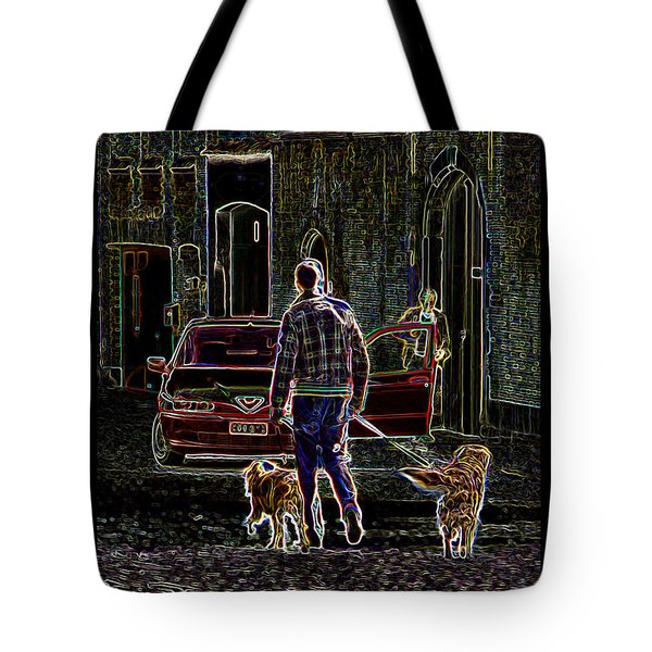 Man And Best Friends Tote Bag by Rhonda McDougall