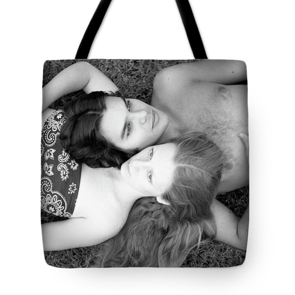 Man And Woman, Head-to-head, 1973 Tote Bag