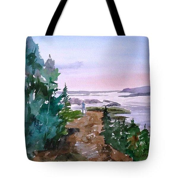 Man At Fraser Lake Bc Tote Bag