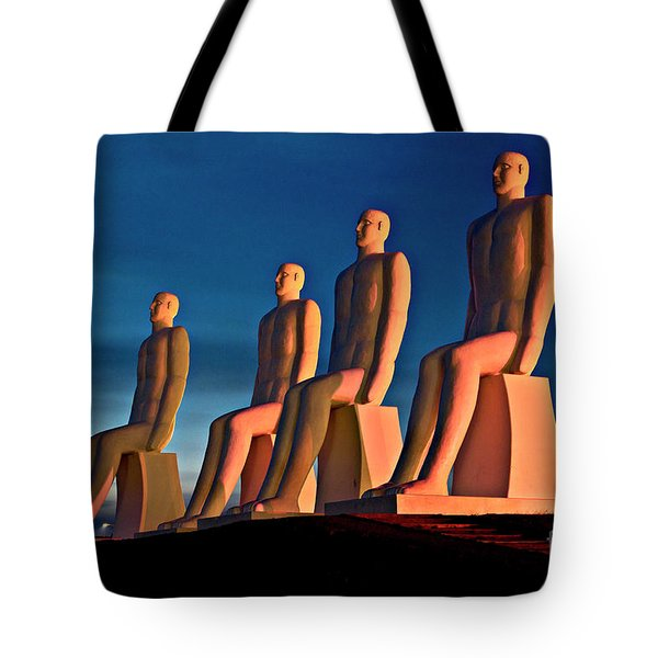 Tote Bag featuring the photograph Man At Sea  by Silva Wischeropp