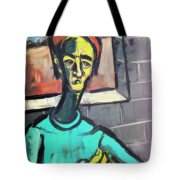 Man By A Window Tote Bag