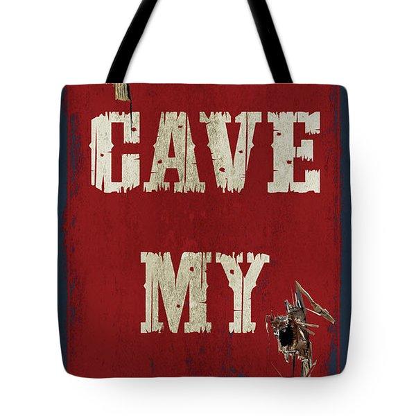 Man Cave Rules Tote Bag