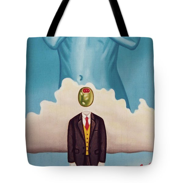 Man Dreaming Of Woman Tote Bag