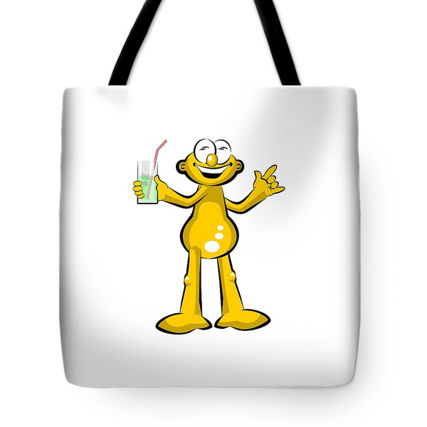 Man Drinking A Soda In Summer Tote Bag