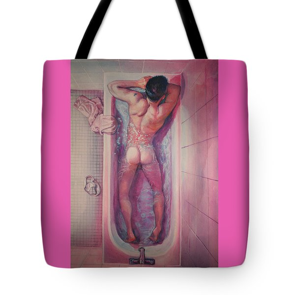 Man In Bathtub #1 Tote Bag