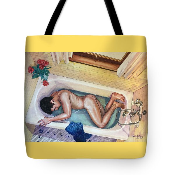 Man In Bathtub #3 Tote Bag