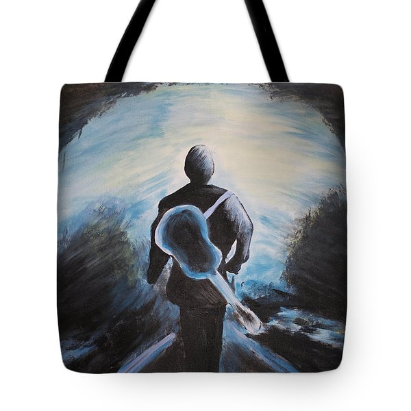 Man In Black Tote Bag by Steven Dopka