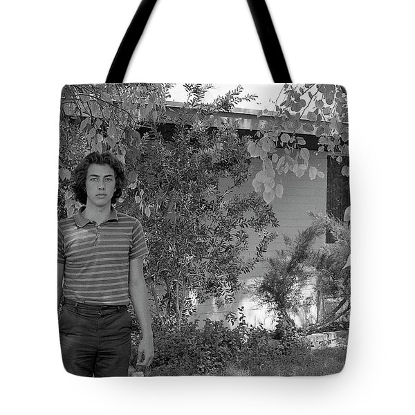 Man In Front Of Cinder-block Home, 1973 Tote Bag