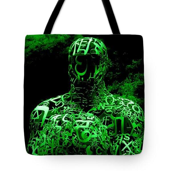 Man In Green Tote Bag